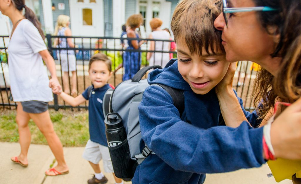 First Day Kiss: Easing from Summer to School